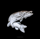 Northern Pike Lapel Pin