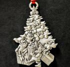 Elves Putting Presents Under Christmas Tree Ornament