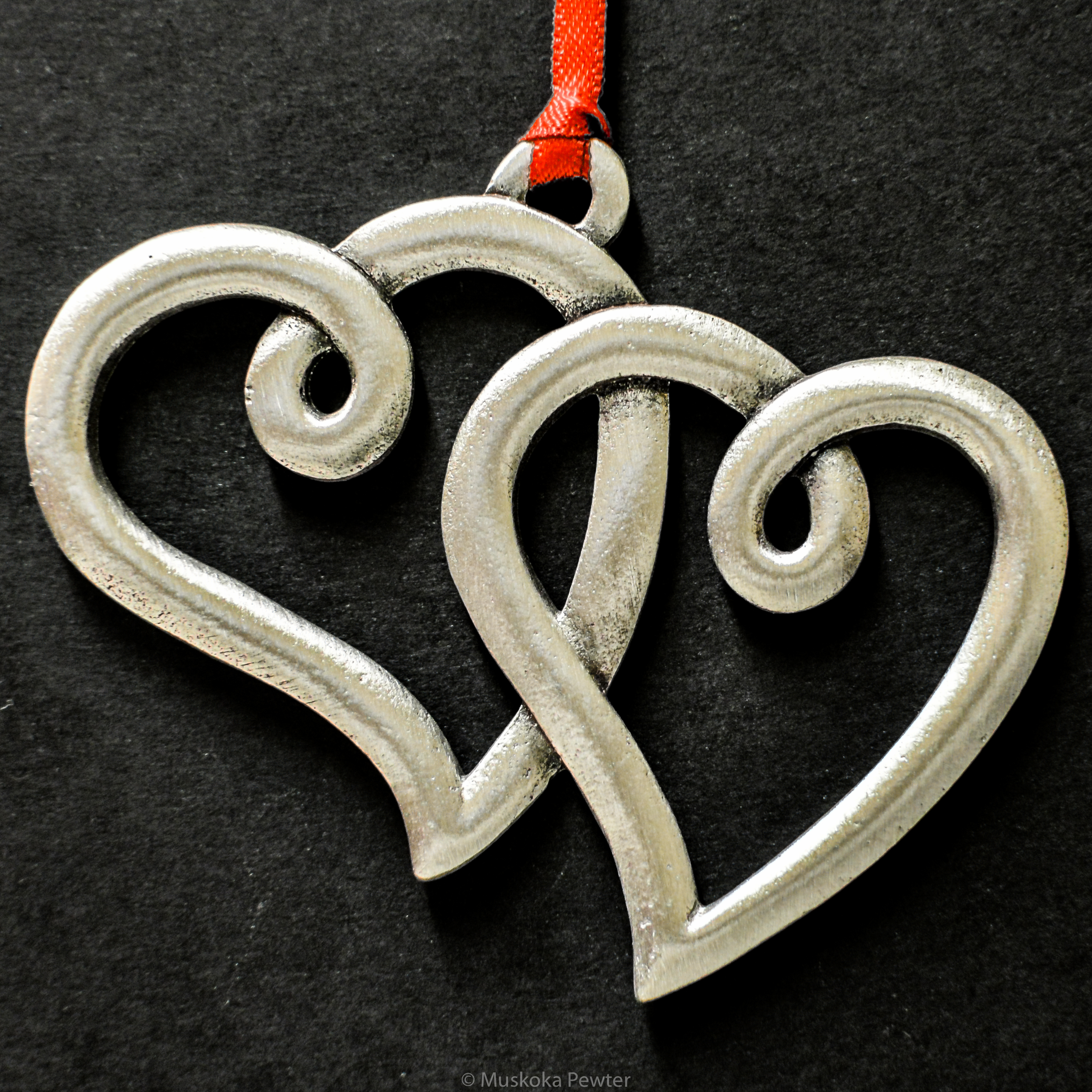 Double Hearts Ornament