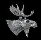 Moose Head Lapel Pin