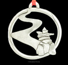 Inukshuk on Path Ornament
